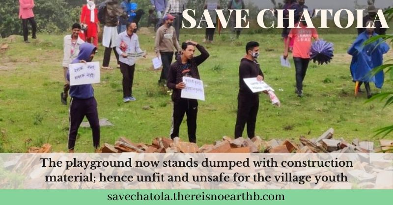 Picture of Protesting Villagers in Chatola